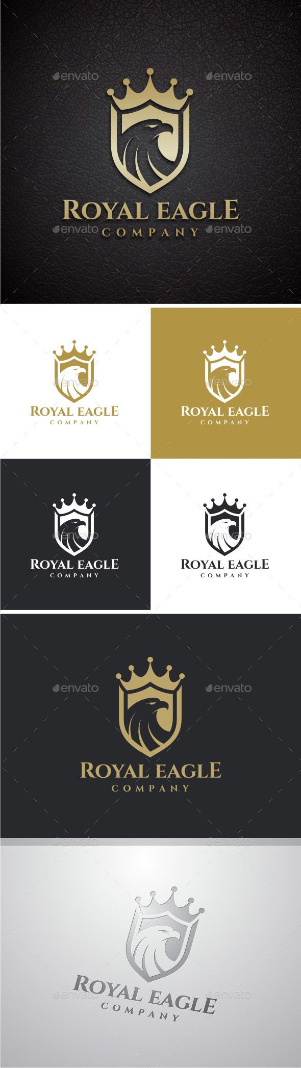 Royal Eagle Logo — Photoshop PSD #vector #graphic • Available here → https://graphicriver.net/item/royal-eagle-logo/8567477?ref=pxcr