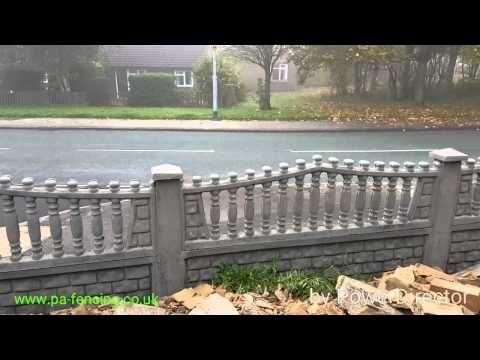 concrete panel fence - Google Search