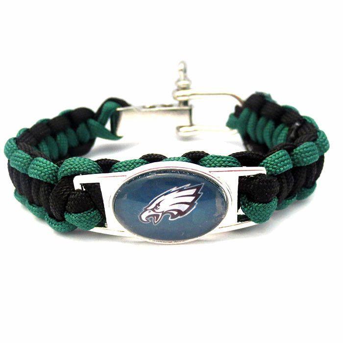 NFL Philadelphia Eagles Football Team Paracord Bracelet