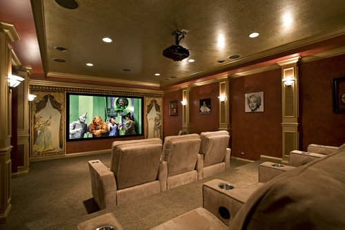 17 best images about house home theaters on pinterest for Basement theater room