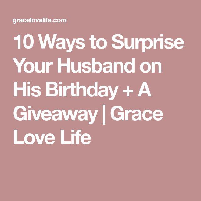 Best 25+ Husband Surprise Ideas On Pinterest