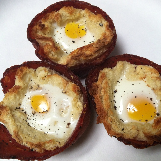 """bird's nests (a baked twist on """"toads"""")"""