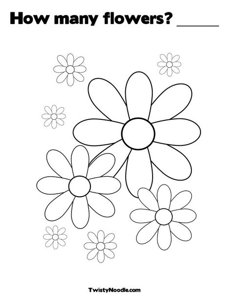 How many flowers ______ Coloring Page from TwistyNoodle