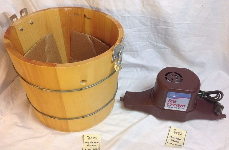 Rival 8550 Ice Cream Maker Parts - CHOICE Wood Barrel Motor Manual #Rival