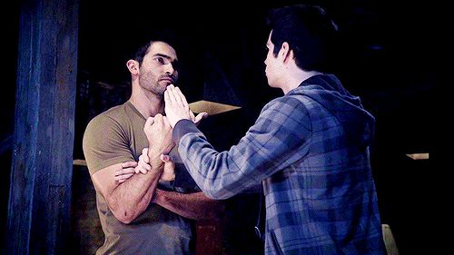 Dylan O'Brien - Stiles and Derek gif | @celebritiies