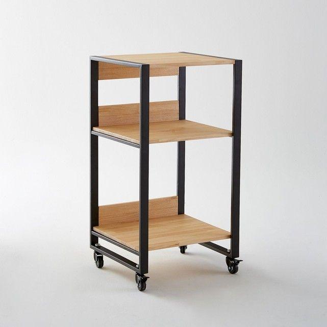 Le meuble desserte à roulettes, Hiba. Il se déplace où vous voulez pour vous rendre service, y ranger votre vaisselle ou autres accessoires et desservir en toute facilité grâce à ses 3 étagères de belles dimensions.Descriptif du meuble desserte à roulettes, Hiba :3 étagères.4 roulettes.Caractéristiques du meuble desserte à roulettes, Hiba :Structure métal noir mat.Etagères en pin abouté finition huilée.Retrouvez toute la gamme Hiba sur laredoute.frDimensions du meuble desserte à roulett...