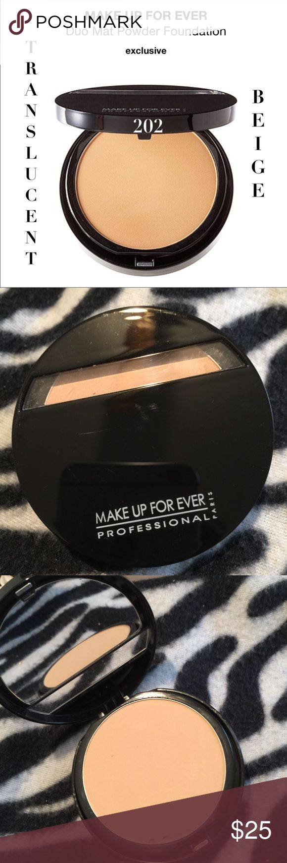 Make Up For Ever Duo Mat Powder Foundation NWT (With