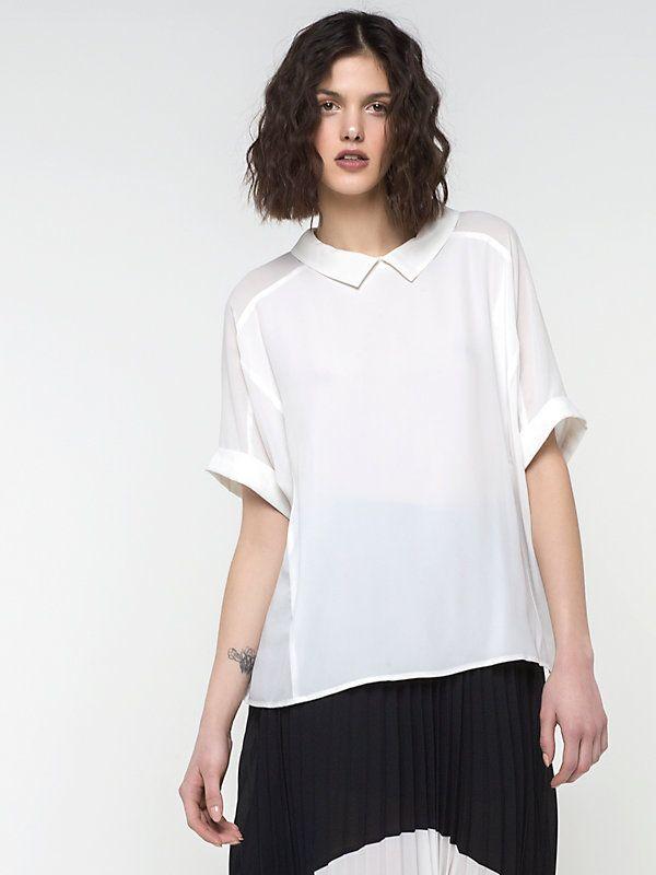 Рубашка-туника из смесового крепдешина с шелком W146 3