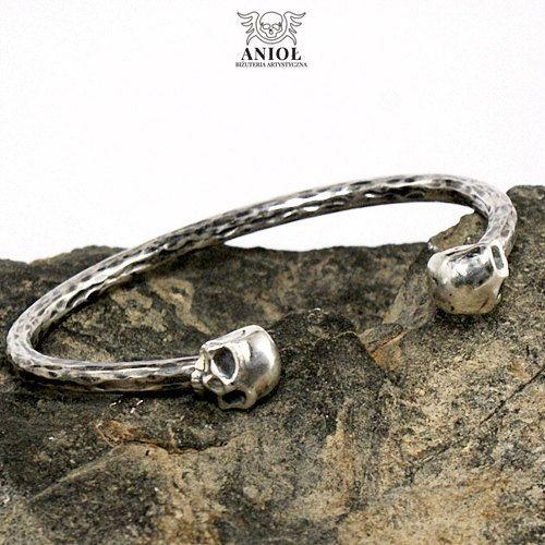 SKULL   Rocker Jewelry 100% Sterling Silver Bracelet    Men
