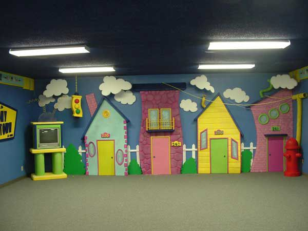 Hot Wire Foam Factory - Church Playroom Backdrop
