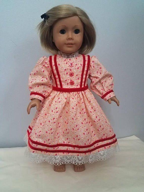 Civil War Era High Necked Everyday Dress Fits American Girl