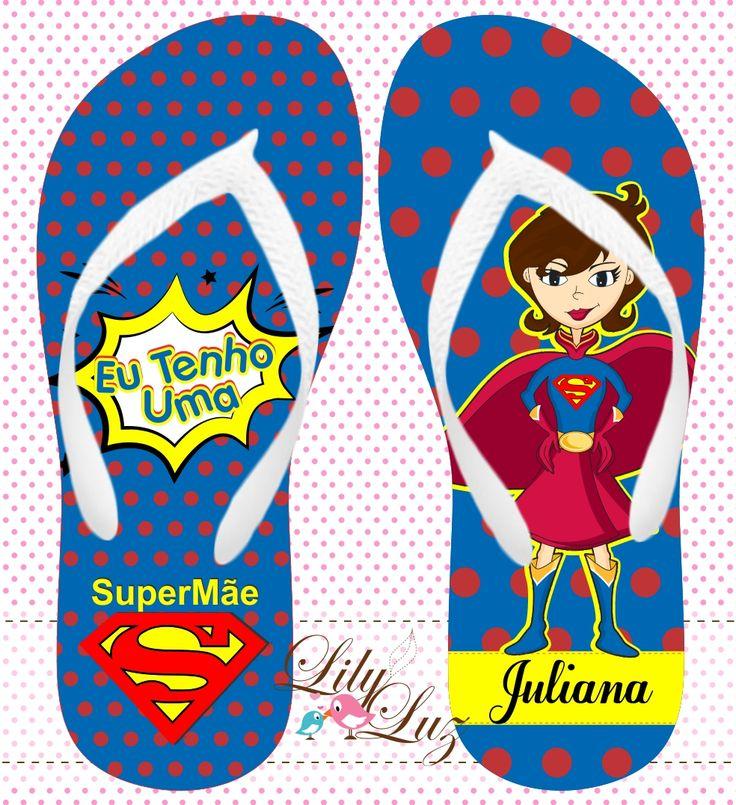 Chinelo Personalizado SuperMãe
