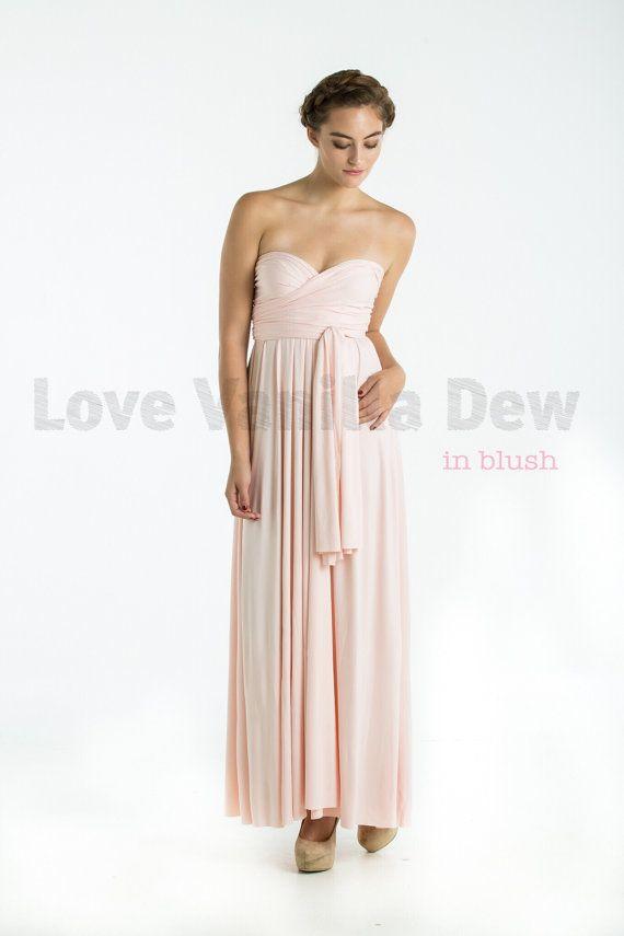 Bridesmaid Dress Infinity Dress Blush Floor by LoveVanillaDew