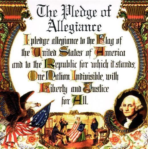 The original Pledge of Allegiance