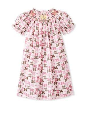 64% OFF Viva La Fete Kid's Smocked Butterfly Bishop Dress (Pink Multi)