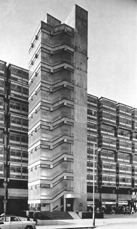 Eros House, Catford, London, 1960-63 (Owen Luder Partnership)