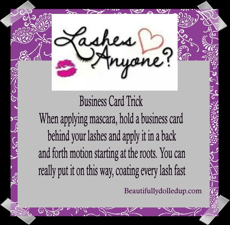 Business card trick beautifullydolledup makeup tips pinterest business card trick beautifullydolledup makeup tips pinterest card tricks facebook instagram and logs colourmoves Images