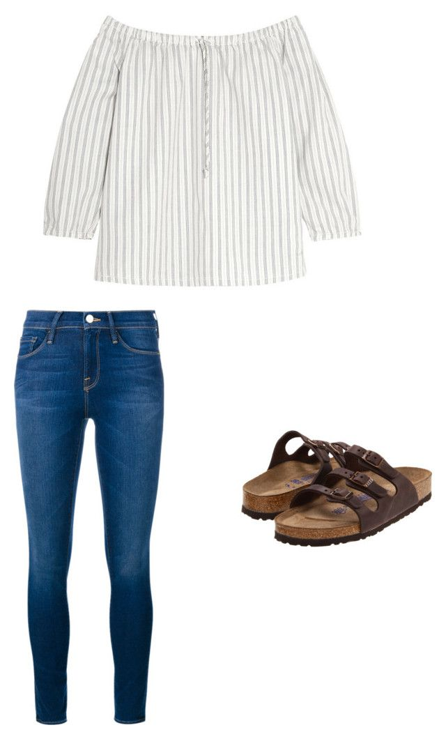 outfit 208. by sebailey on Polyvore featuring polyvore, mode, style, Madewell, Frame Denim, Birkenstock, fashion and clothing