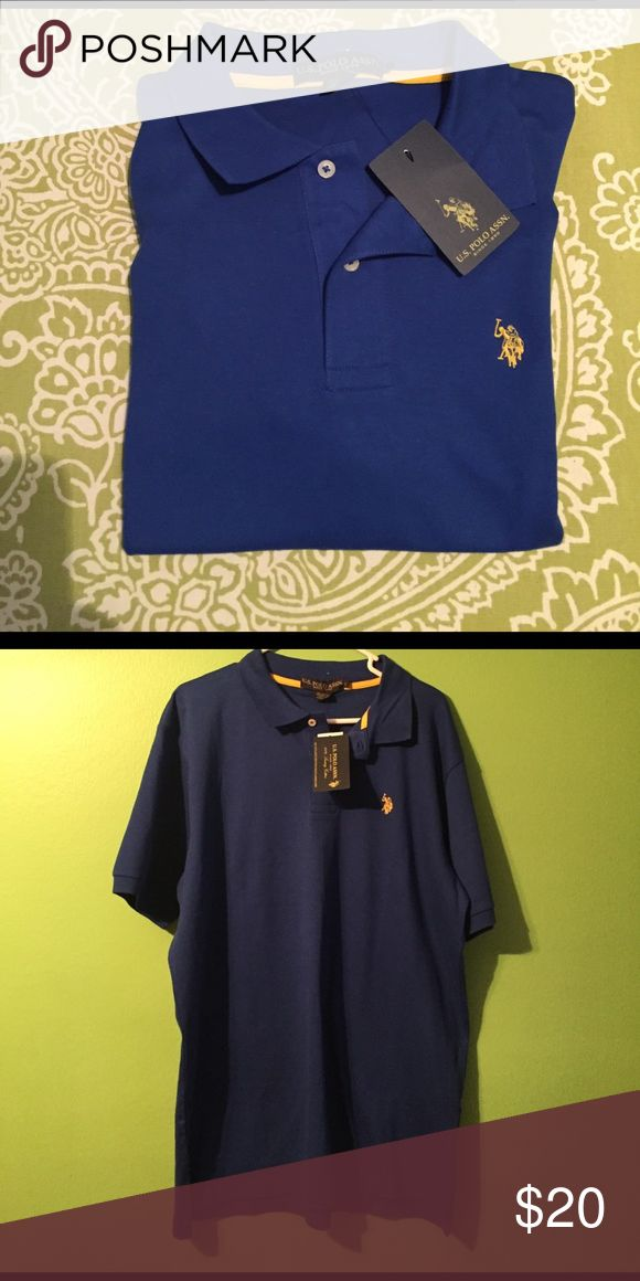 NWT Men's U.S. Polo Assn. Luxury Cotton Polo Shirt **NEW WITH TAGS** U.S. Polo Assn. Mens Luxury Cotton Polo Shirt. Blue with Yellow logo. This is a very soft Luxury Cotton. Size Large U.S. Polo Assn. Shirts Polos