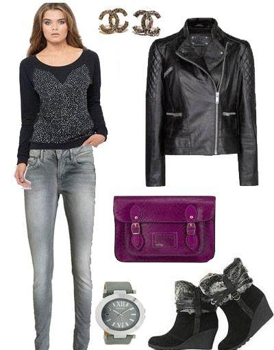 Fashionlike.gr - Μοβ, γκρι, μαύρο τα συνδυάζουμε και έχουμε το τέλειο outfit! >>> http://bit.ly/1covXbF