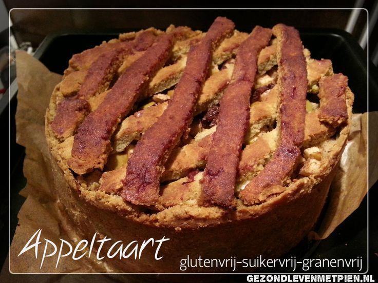 Appeltaart volgens grootmoeders recept maar dan glutenvrij, granenvrij en suikervrij. Van Pien Dijkstra