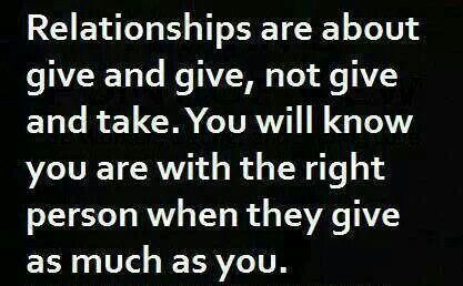 no give and take in relationship to