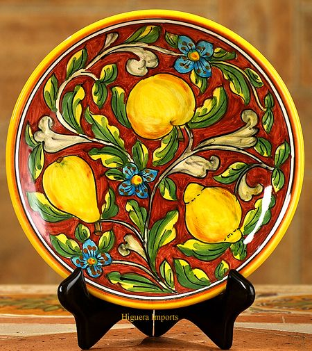 Italian ceramics,Stone,Travertine,terracotta, tables.