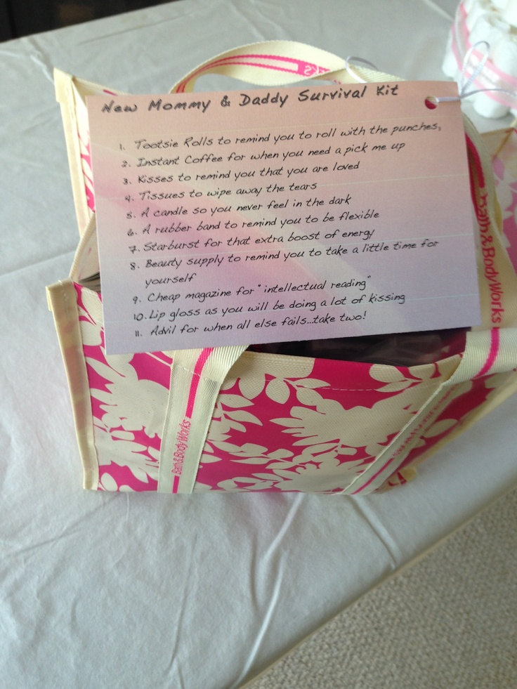 new mommy daddy survival kit baby shower ideas pinterest survival kits daddy survival. Black Bedroom Furniture Sets. Home Design Ideas