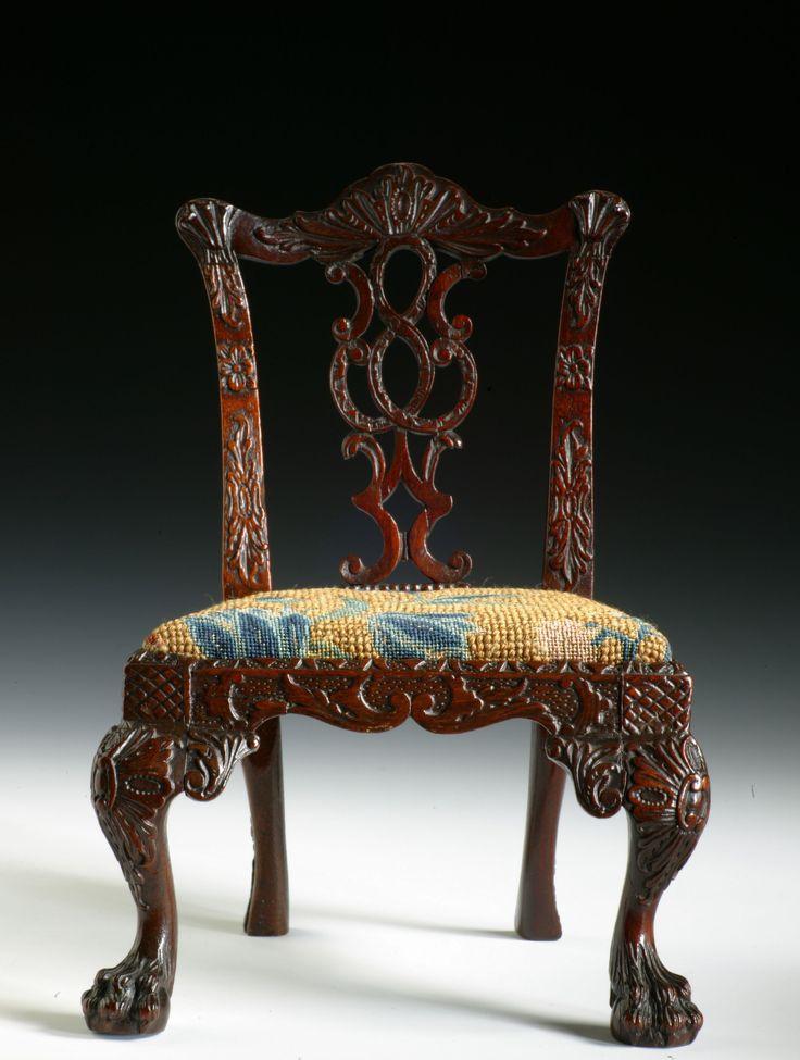 RARE MINIATURE CHIPPENDALE SIDE CHAIR Richard Gardner Antiques - 20 Best Antique Miniature Furniture Images On Pinterest
