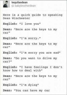 Dean Winchester Translations