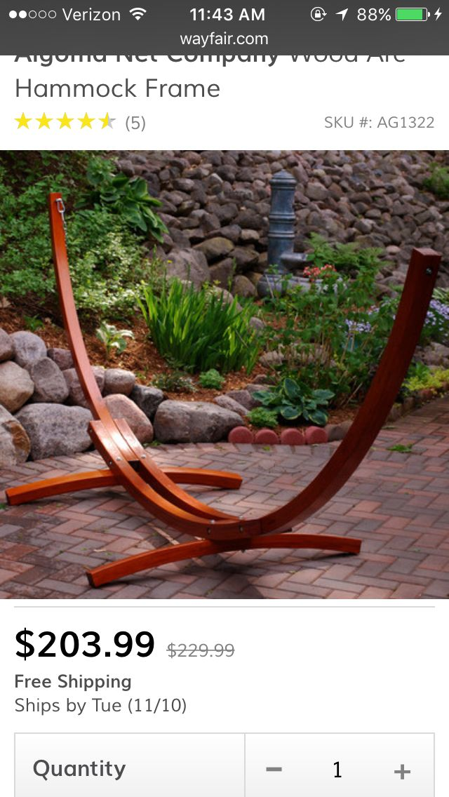 how to make a wooden hammock chair stand