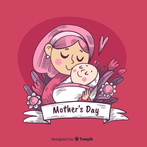 Download Hand Drawn Mother S Day Background For Free Mother S Day Clip Art Mother S Day Background Cute Little Drawings