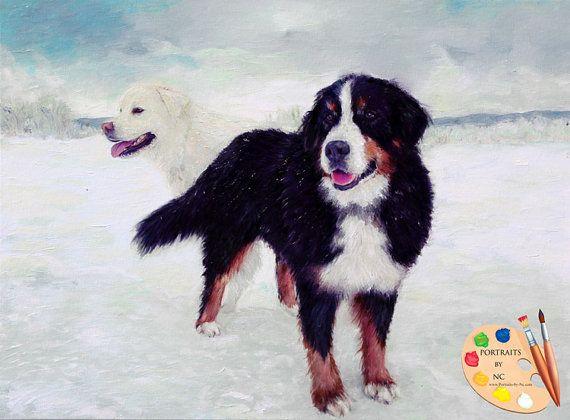Perro de montaña de Bernese y grandes retratos por PetPortraitsbyNC