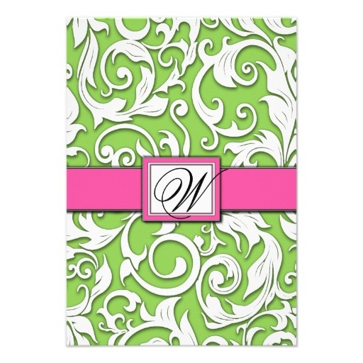 78 Best Images About Hot Pink And Lime Green Wedding Invitations On Pinterest