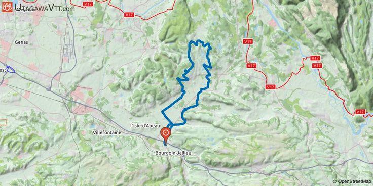 """[Isère] De Bourgoin vers l'Isle Crémieu - N°3 Tous les chemins mènent en Isle Crémieu et celui-ci nous y emmène en passant par les coteaux de Saint-Savin. Après la traversée des vignes, une petite partie sur asphalte pour rejoindre Salagnon et traverser le marais de Varézieu. Au camping de Trept, le parcours s'élève par un chemin souvent boueux mais sans difficultés jusqu'au village de Soleymieu. Ensuite nous circulons entre les """"Mollards"""" par un chemin souvent boueux avant de retrouver le…"""
