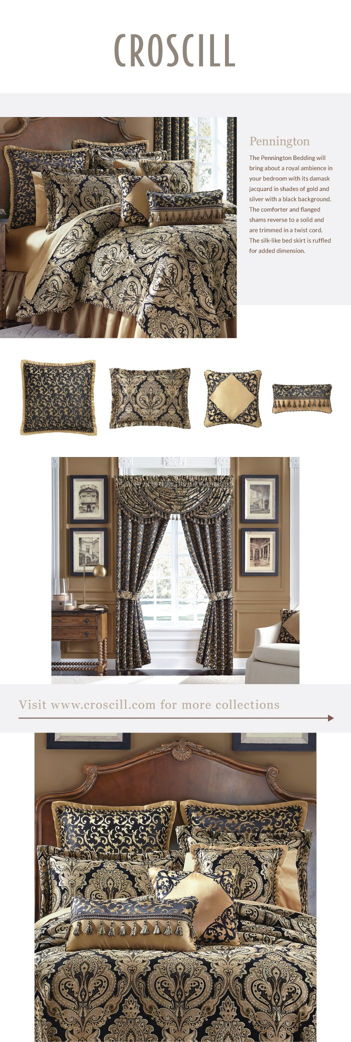 Bedding jardin collection bedding collections bed amp bath macy s - Pennington Bedding Collection Croscill
