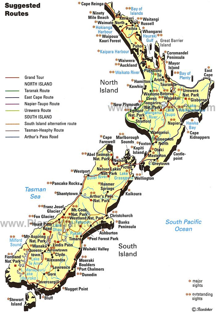 Map of New Zealand...I love south island, went on a Class 5-6 rapids there!  Awesome!