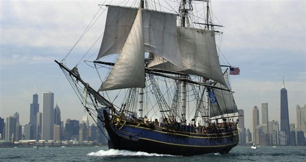 R.I.P. HMS Bounty.  Taken by Hurricane Sandy along with 1 dead crew member and the missing Captain.