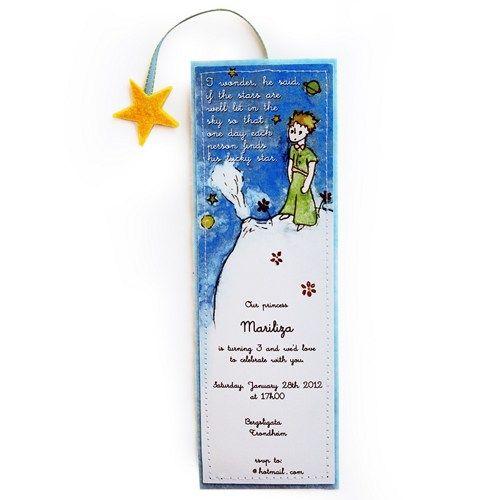 Little Prince / Le Petit Prince Invitations - Set of 8   Minois - Cards on ArtFire