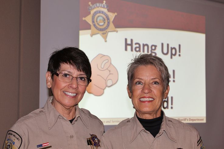 We appreciate the volunteer work you do that enriches and protects the happiness of seniors! Thank you Lou, Sylvia, and the rest of the Pima County Sheriff Department's Auxiliary Volunteers of Green Valley for combating senior scams with great public information presentations and innovative thinking.