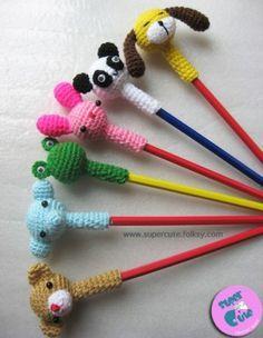 crochet pencil topper - Pesquisa Google