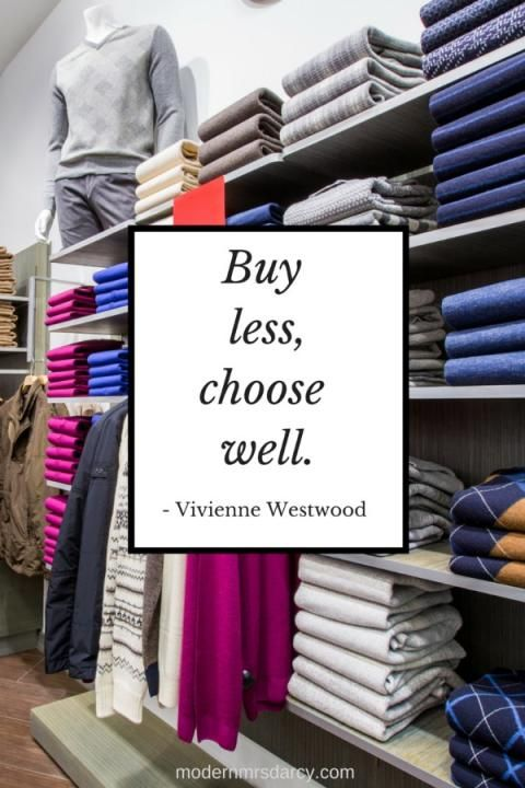 Buy less, choose well: words to live by and the real magic of the capsule wardrobe