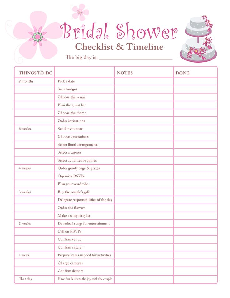 Best  Bridal Shower Checklist Ideas On   Bridal