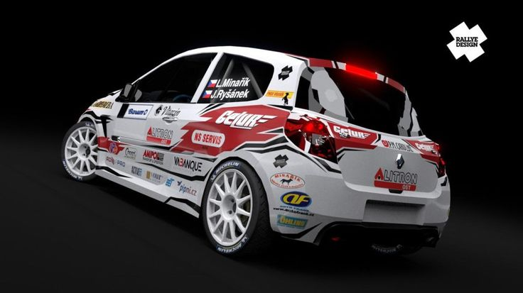 Minařík Racing (Renault Clio R3) - design and wrap for season 2012.