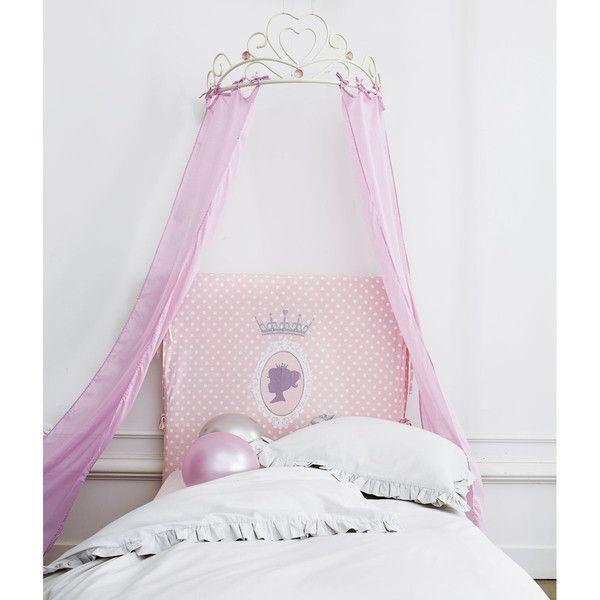 Ciel de lit enfant rose Coeur