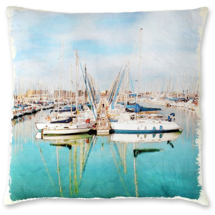 Provence Boats linen cushion cover | hardtofind.