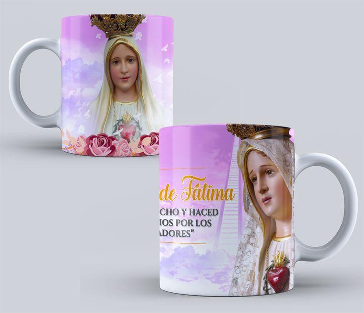 VIRGEN DE FATIMA Diseños PSD para Tazas de vírgenes Católicas Pack N 1 #mottaplantillas #sublimacion #tazas