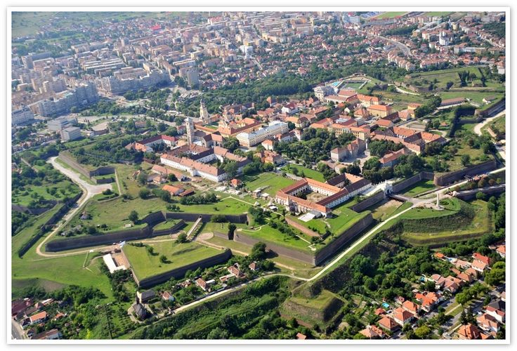 Alba Iulia fortress by air