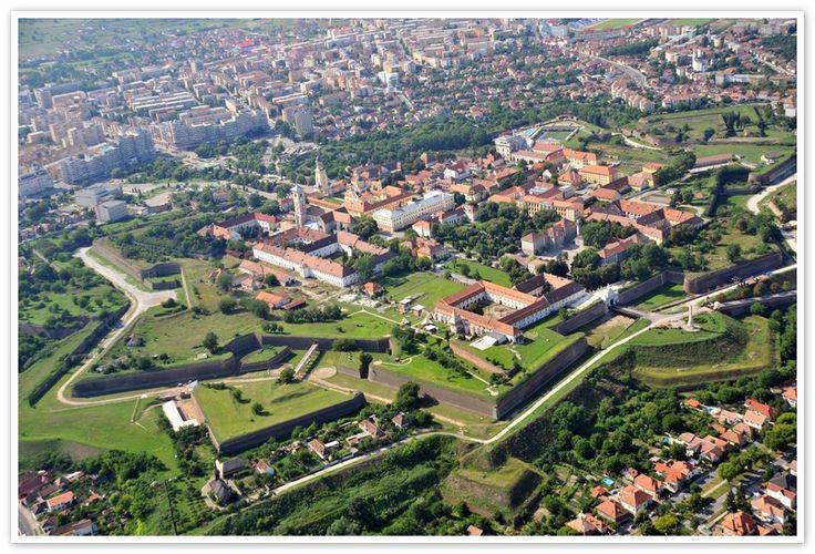 Alba Iulia fortress by air