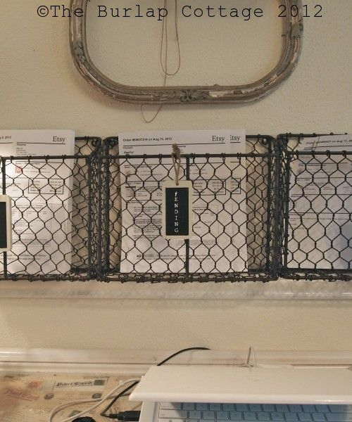 Organization using Ryan Wire Baskets from Cost Plus World Market ~ Created by The Burlap Cottage >> #WorldMarket Inspirations #DIY  http://theburlapcottage.com/?p=620